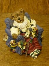 Boyds Bearstones #228372 Jolly Ol' Saint Snoozen w/ Jingle, Jangle, Tinker, Slus