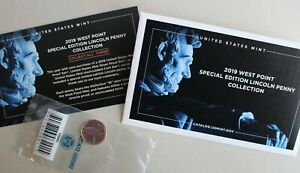 2019 W Uncirculated Lincoln Shield One Cent Coin West Point Mint Package and COA