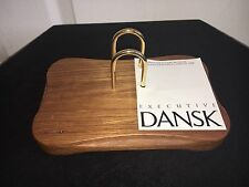 Dansk Ihq/jhq Teak Jens Quistgaard Executive Desk Calendar Teakwood Rare VTG