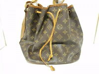 LOUIS VUITTON Shoulder Bag Petit Noe M42226 Monogram Brown Used