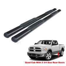 """4"""" Black Running Boards For 09-18 Dodge Ram 1500 Quad/EXT Cab Side Step Nerf Bar"""