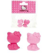 4 x Hello Kitty Radiergummi - pink und rosa - Mitgebsel Kindergeburtstag Tombola
