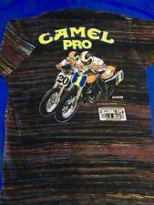 AMA Sanctioned CAMEL PRO MOTORCYCLE RACING Vintage 1992 CUSTOM DYED T-Shirt XL