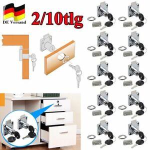 DE Schrankschloß Möbelschloß Schubladenschloss Zylinderschloss Briefkastenschloß