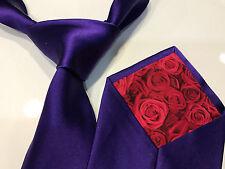 "Paul Smith Purple Silk Tie ""MAINLINE"" Classic 9cm 100% Silk Tie Made in ITALY"
