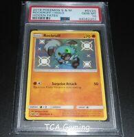 PSA 10 GEM MINT Rockruff SV23/SV94 SM Hidden Fates SHINY HOLO Pokemon Card
