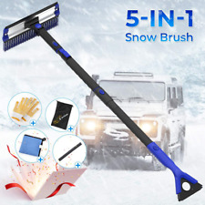 Car Snow Brush, 5 in 1 Extendable Foam Grip Snow Scraper with Brush Winter gifts