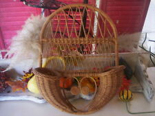Vintage fall wall  basket/Cornucopia basket/Thanksgiving basket/Holiday basket