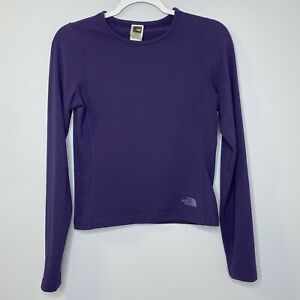 North Face Vapor Wick  XS Long Sleeve Top Shirt  Purple
