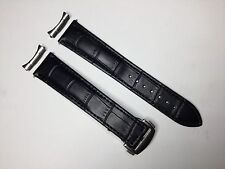 GENUINE ITALIAN LEATHER BAND STRAP FOR OMEGA SEAMASTER + END PIECE CUSTOM MADE