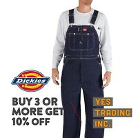 DICKIES 83294NB MENS OVERALLS BIB DENIM INDIGO OVERALL RINSE BLUE AUTHENTIC WORK