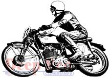 Deep Red Stamps Motorcycle Racer Rubber Cling Stamps
