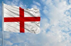 England Flag 8FT X 5FT St George Cross Flags English Eyelets Football Rugby Day
