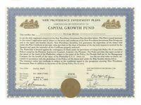 Capital Growth Fund - Investment-Zertifikat Bahamas 1968 - 2 Golddruck-Vignetten