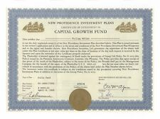 Capital Growth Fund - Investment-Zertifikat Bahamas 1968 - 2 Golddruck-Vignetten