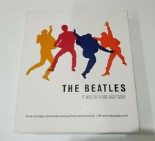"""BOX SET """"THE BEATLES: IT WAS 50 YEARS AGO TODAY"""" BOOK DVD RARE PHOTOS"""