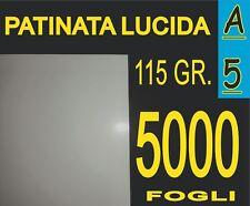 5000 FOGLI A5 CARTA PATINATA LUCIDA STAMPANTI LASER VOLANTINI 115 gr