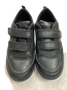 Clarks Boys School Shoes Size 12G - Black Leather