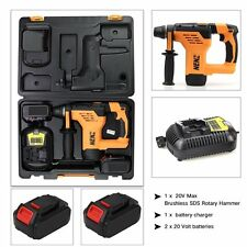 For Dewalt Combo Kits,NZ-80 Max 600W SDS Rotary Hammer 2 Battery,1Charger,1Tool