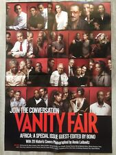 """Vanity Fair Poster Join The Conversation Africa 18"""" x 26"""" Historic Covers Bono"""