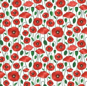 Beautiful Red Poppy Wrapping Paper Sheet,Mothers Day Wrapping Paper,Floral Wrap