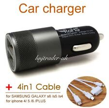 Apple iPhone, Samsung Galaxy, Sony, Htc  In Car Fast Charger + 4 In 1 Usb Cable