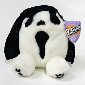 VERY RARE Puffkins Halloween Screech Scream Ghost Limited Edition Mini Plush