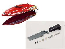Ersatzteil Rennboot Speedboot Super Mono X: Ruder + Halterung
