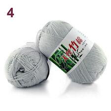 Sale Soft Natural Knitting Crochet baby Bamboo Baby Cotton Wool Yarn 50g Ball