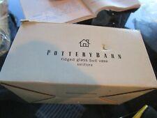 Pottery Barn Ridged wall glass bud vase New in Box