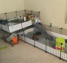 Pet Playpen Panels Small Animals Dog Big Guinea Pig Giant Rabbit Cage Fence Yard