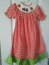 Fall Pumpkin Smocked Bishop Dress Girls size 5T