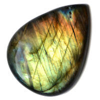 Cts. 44.25 Natural Purple Fire Labradorite Cabochon Pear Cab Loose Gemstones