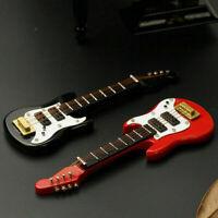 1/12 Dollhouse Mini Electric Guitar For Doll House Fine T DIY O1J6 Red U1E4 L0Z1