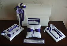 Personalised Post Chest Card Box Guest Book Photo Album Ring Cushion All colours