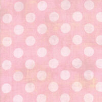 Hits the Spot~GRUNGE Dots~BY 1/2 YD~MODA FABRIC~BASICGREY~Duchess Pink~30149-46