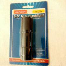 "3.5"" MINI FLASHLIGHT SUPER BRIGHT 9 LED BULBS EASY PUSH ON/OFF"