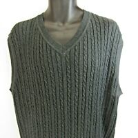 Smith & Tweed Cable Knit Sweater Vest Men's Size XL NEW $72 NWT Charcoal Gray