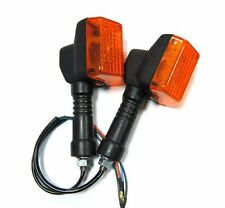 Pair For Honda NX125 NX250 NX650 Front Turn Signal Lights Indicators Flasher New