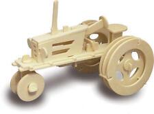 Trattore da fattoria 3D IN LEGNO Modellazione KIT Modello Puzzle