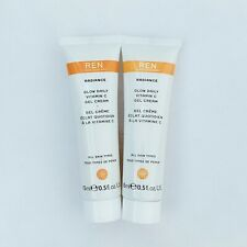 REN Clean Skincare Radiance Glow Daily Vitamin C Gel Cream~ Travel Size 0.5oz x2