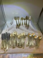 Hampton Silversmiths Flatware - Stainless Gold Electroplate EP #215 - 82 Pieces
