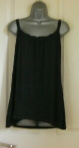 Black Sleeveless top Marks and Spencer Size 18