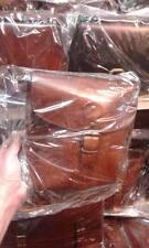 Borsello Piatto in CUOIO Tracolla verticale borsa Artigianale bag man 28x25 L5CM
