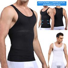 Mens Casual Vest Shapewear Shaper Gynecomastia Moobs Control Slimming Tank Tops