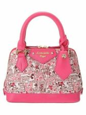 Samantha Vega Disney Mickey Minnie Comic Pattern Pink Small Handbag NWT