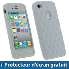 Étuis, housses et coques avec clip iPhone 4s en silicone, caoutchouc, gel pour téléphone mobile et assistant personnel (PDA)