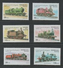 Thematic Stamps Trains - SAHARA 1997 LOCOS 6v mint