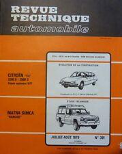 NEUVE DE STOCK !!!! Revue technique MATRA SIMCA RANCHO RTA 391 1979 + CITROEN CX