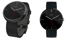 NEW Motorola Moto 360 46MM Android Wear Bluetooth Smart Watch Black Leather